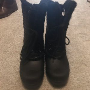Hunter Lace Up Rain/Snow Boots with Sterling